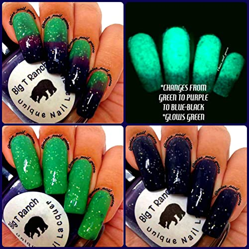 Amazon.com: Color Changing Thermal Glitter Nail Polish - Ombre Green ...