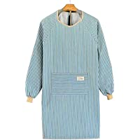 Cotton Linen Long Sleeve Aprons for Women, Cooking Gardening Chef Painting Cute Work Apron For Teen Girls Adult Smock…