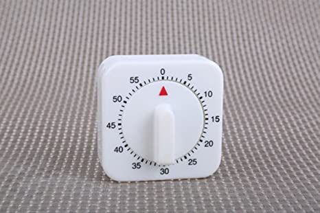 1Hr//60Min Mechanical Timer Game Count Down Counter Alarm Kitchen Cooking Tool