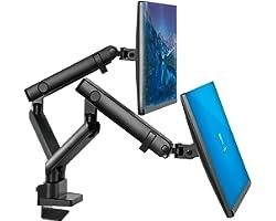 Dual Monitor Stand, Dual Monitor Arm, Dual Monitor Mount VESA Mount, up to 32 inch Monitor Desk Montaje, Monitor Arms & Monit