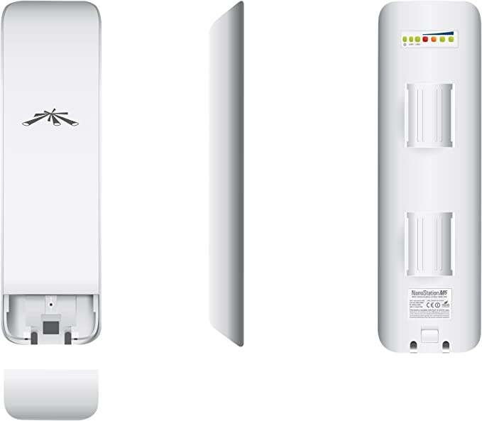 Ubiquiti Networks NanoStation M5 - Punto de Acceso (4.9-5.9, 5-95%, -30-80 °C, IEEE 802.3u, Color Blanco, Atheros MIPS 24KC)