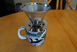 Drip Coffee Maker Clogged : Amazon.com: Cafellissimo Paperless Pour Over Coffee Maker, 188 (304) Stainless Steel Reusable ...