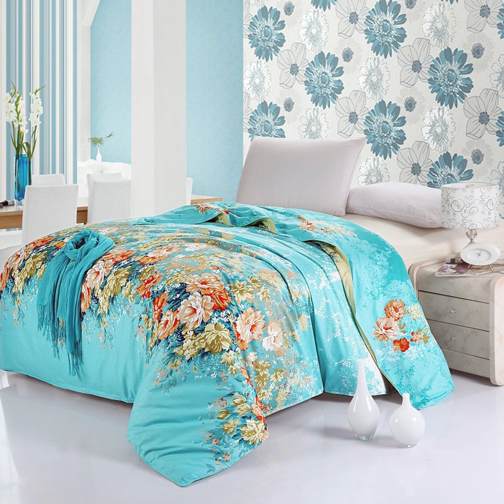 emailren 100 cotton blend well designed floral pattern printed duvet cover sets full queen