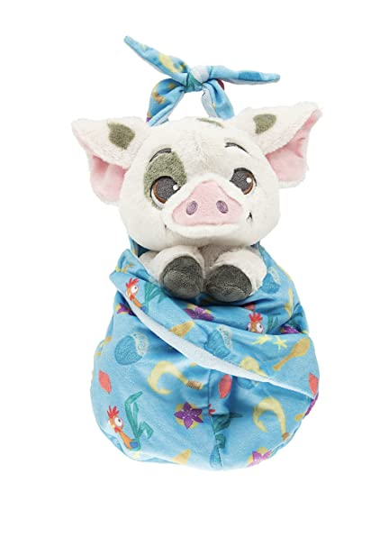 amazon com disney baby pua pig from moana in a pouch blanket plush