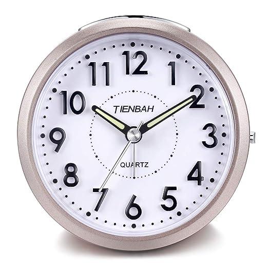 Yadelai Despertador Analógico de Viaje,Silencioso Reloj de Alarma ...