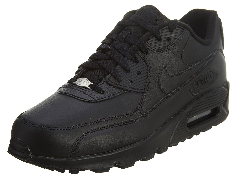 Nike Air MAX 90 Leather, Hausschuhe de Gimnasia para Hombre schwarz (schwarz schwarz 001)