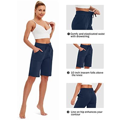 SPECIALMAGIC Sweat Shorts for Women Cotton Shorts with Pockets Running Sweatpants Lounge Sweat Joggers