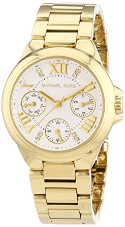 202a60734458 Image Unavailable. Image not available for. Color  Michael Kors Mini Camille  Silver Dial Women s Watch ...