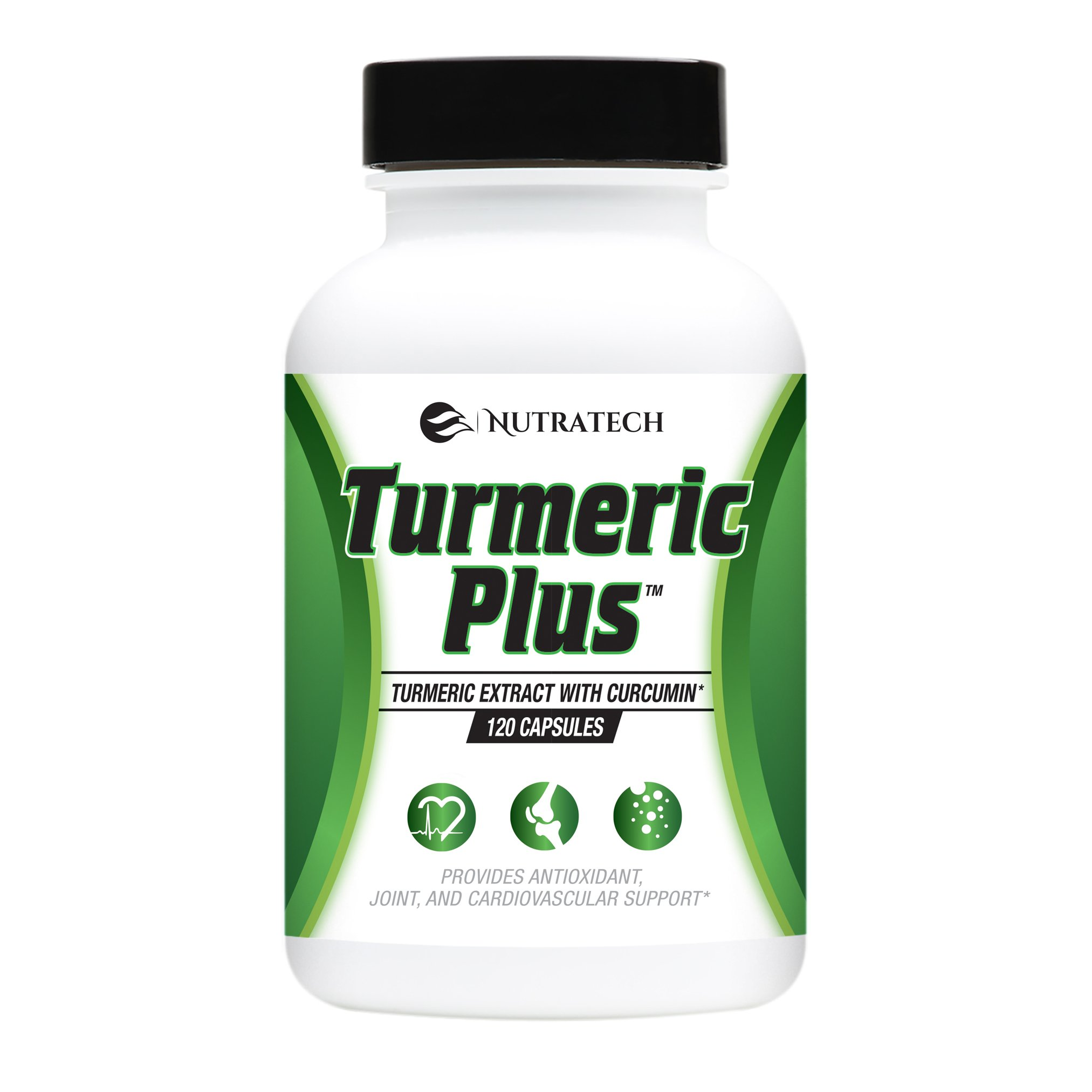 Turmeric Plus –Turmeric 95% Curcumin Supplement with Bioperine Black Pepper Extract. 1,000mg serving. Powerful Anti-Oxidant and Anti-Inflammatory Supports Entire Body Health and Wellness, 120 Capsules