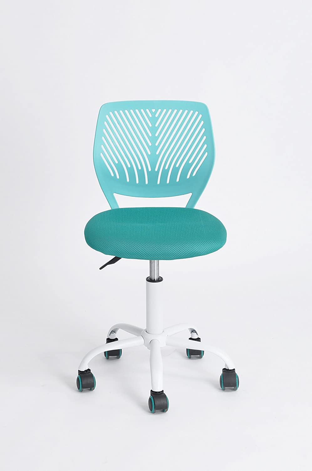 Genial Amazon.com: Green Forest Office Task Desk Chair Adjustable Mid Back Home  Children Study Chair, Turquoise: Kitchen U0026 Dining