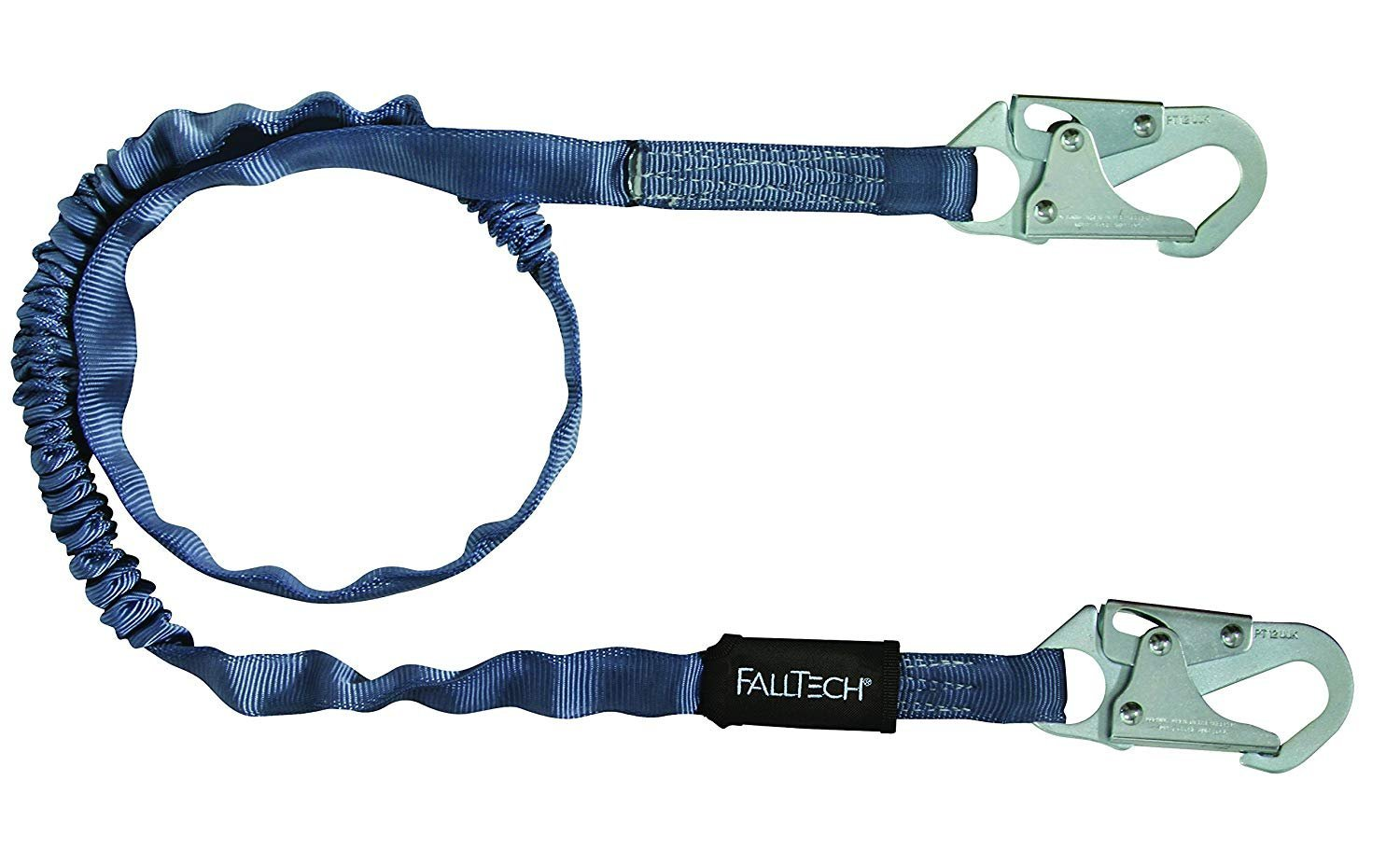 FallTech 8259 Internal 6' Shock Absorbing Lanyard Single Leg with 2 Snap Hooks (3 Pack)