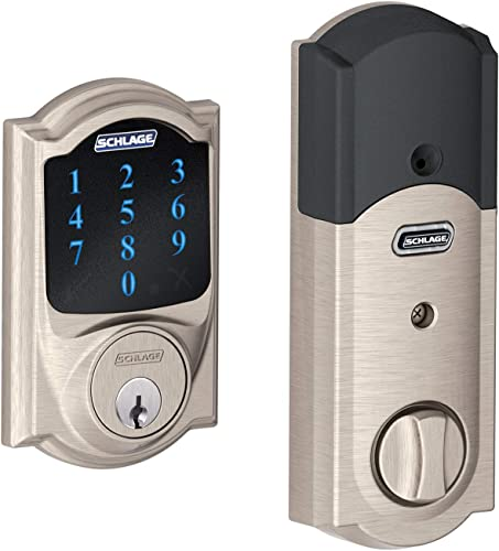 Schlage BE469ZPVCAM619 Satin Nickel Connect Camelot Touchscreen