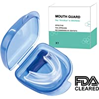 Mouth Guards for Teeth Grinding, Anti Snoring Devices Snore Stopper Sleep Aid Custom Fit Night Dental Guard with Case for Sleeping