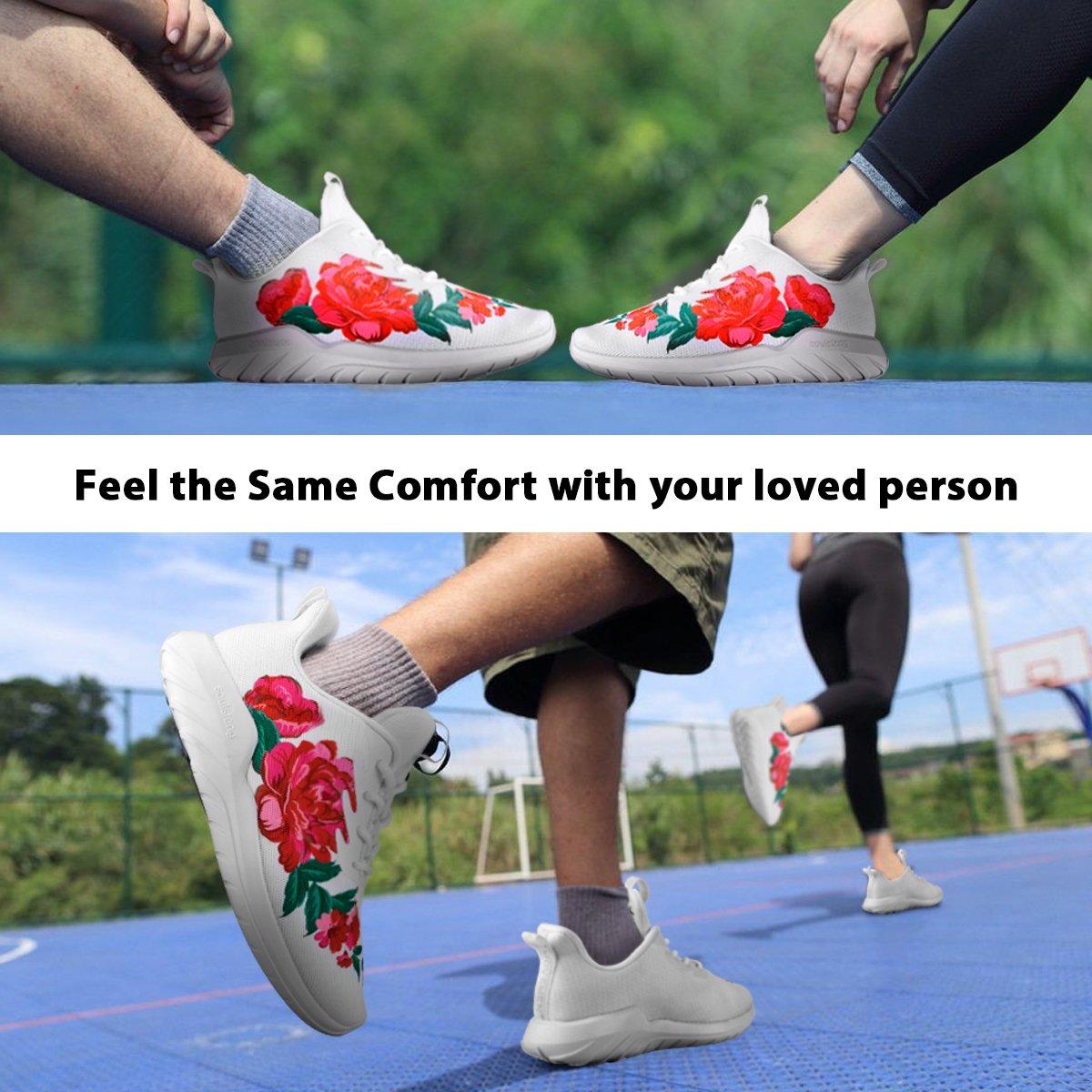 Running Shoes Men Women Wide Sneakers for Boys Girls Youth, Lightweight Shoes B075YSWKLG Women 6.5 B(M)US=EUR37=23.5CM|Big Flower