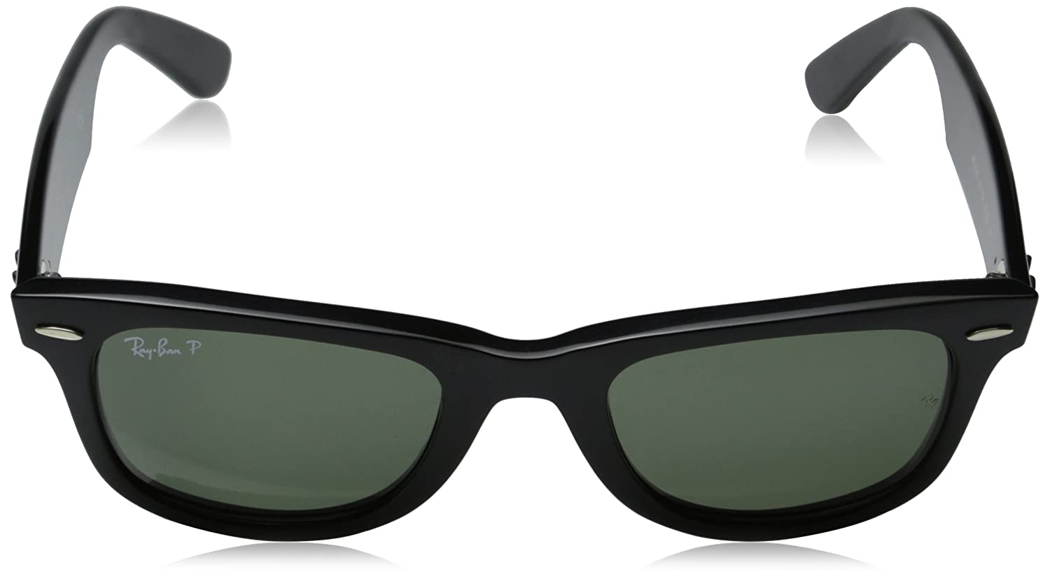 ed675dea30b Amazon.com  Ray-Ban Wayfarer - Black Frame Crystal Green Polarized Lenses