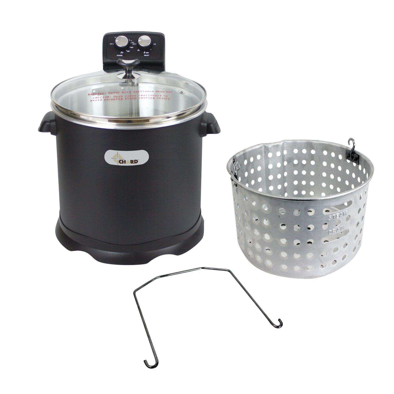 CHARD EDF-Electric Turkey Fryer 16 Quart Black