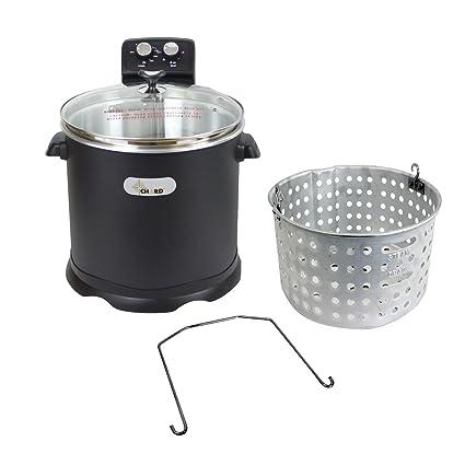 Amazoncom Chard EDF15 Electric Turkey Fryer 16 Quart Black