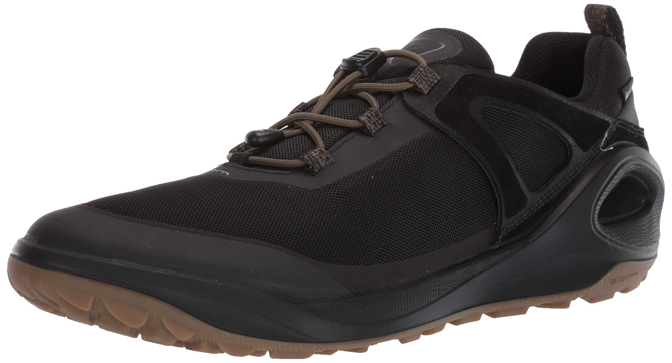 ECCO Men's Biom 2GO Gore-TEX-Waterproof Outdoor Lifestyle Multi-Sport Speed Lace Hiking Shoe, Tarmac/Black, 45 M EU (11-11.5 US) by ECCO