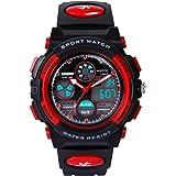 Hiwatch Sportuhren für Kinder Wasserdichte Digital-Armbanduhr
