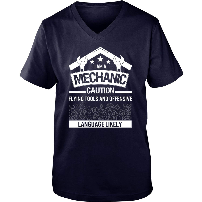Coolest Mechanic Ever Men S I Am A Mechanic Caution Flying Tools Shirts