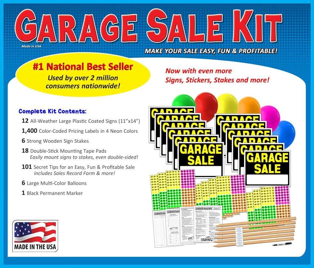 """Amazon.com: Letrero de """"Garage Sale"""" con etiquetas ..."""
