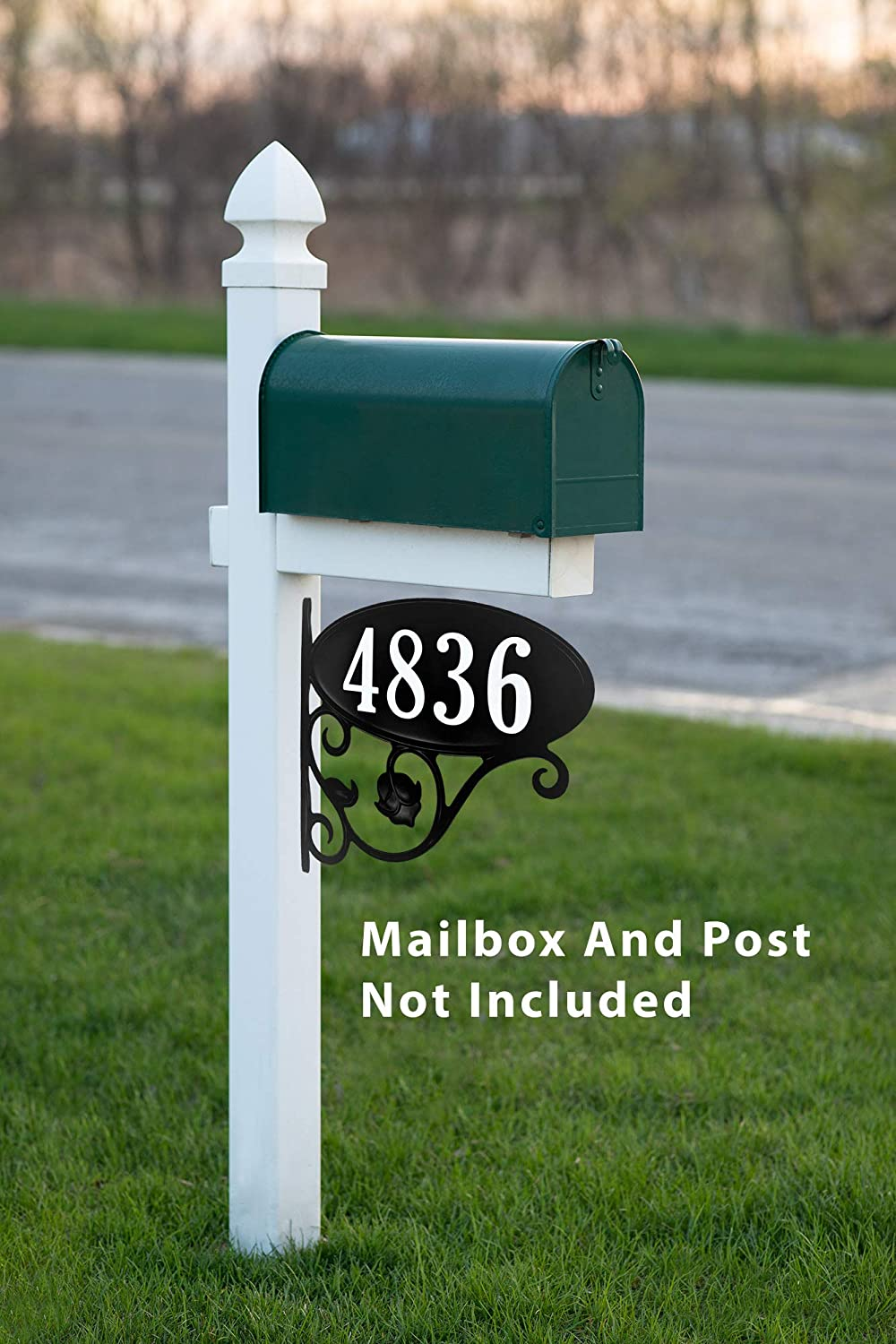 USA Hand-Crafted Custom Made Double Sided Park Place Super Reflective Mailbox Address Sign - New Item Special Price Address America Inc. AS-PPMB-WF