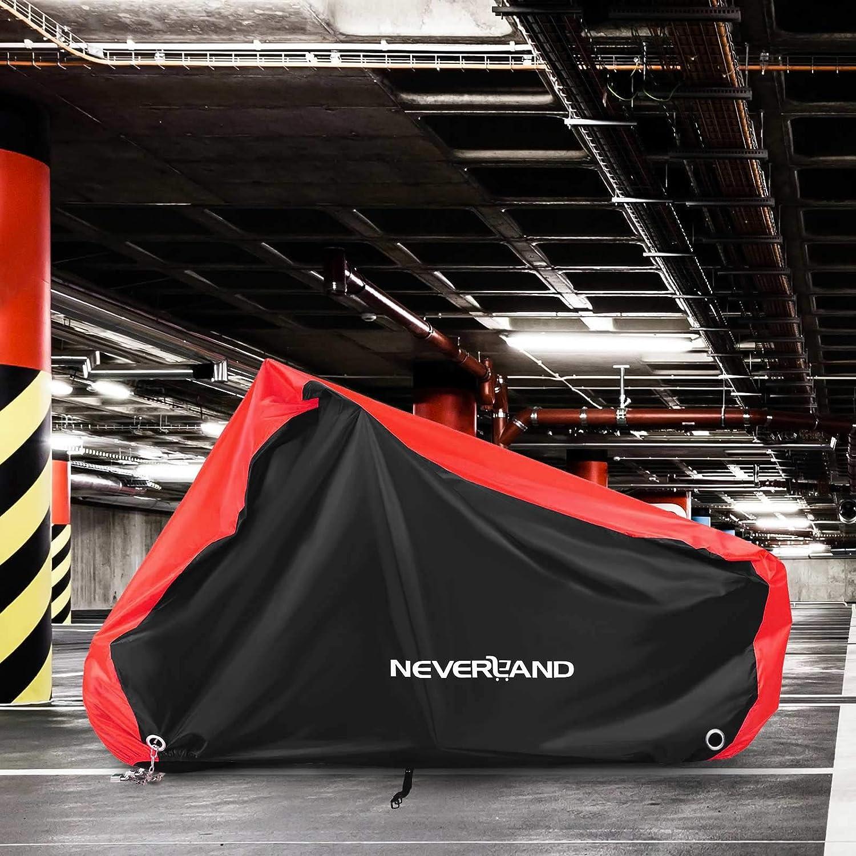 NOVSIGHT Housse de Protection pour Moto B/âche Scooter Taille XXL en Tissu 210D Oxfords Etanche Durable