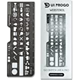 UI PROGO Stainless Steel Stencils for Portable Drawing - Perfect for UI UX Design Material - Large Icons for Easy…