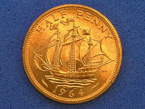 Amazon com: Francis Drake Golden Hind Great Britain Half