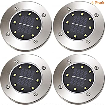 4 Pack Solar 8 Led Boden Lichter Garten Outdoor Innenhof In Ground