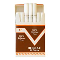 One Pack Made in USA Since 1998 100% Nicotine Free(Cocoa Bean Cigarettes) Regular...