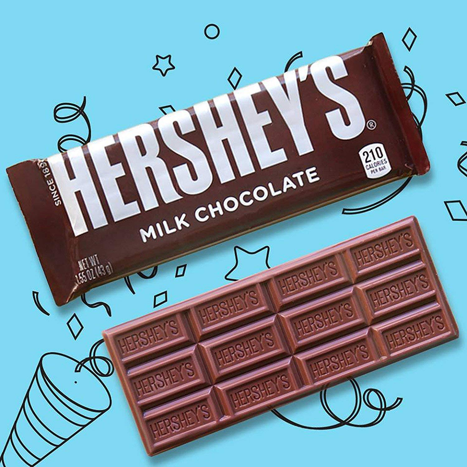 HERSHEY'S Chocolate Candy Bars, Extra Large, 4.4 Ounce Bar (Pack of 12) (Exclusive Edition)