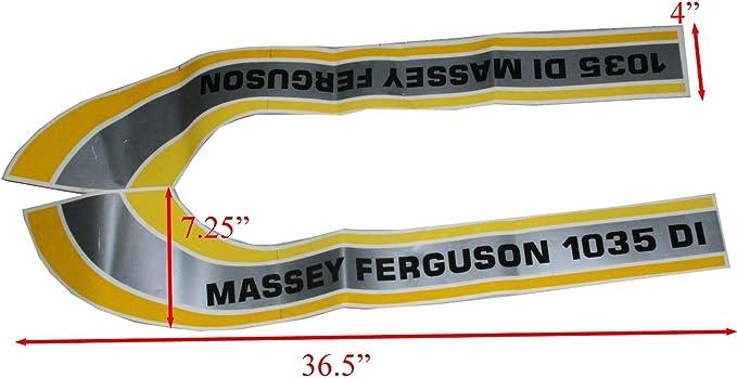 Massey Ferguson 8100 series stickers decals