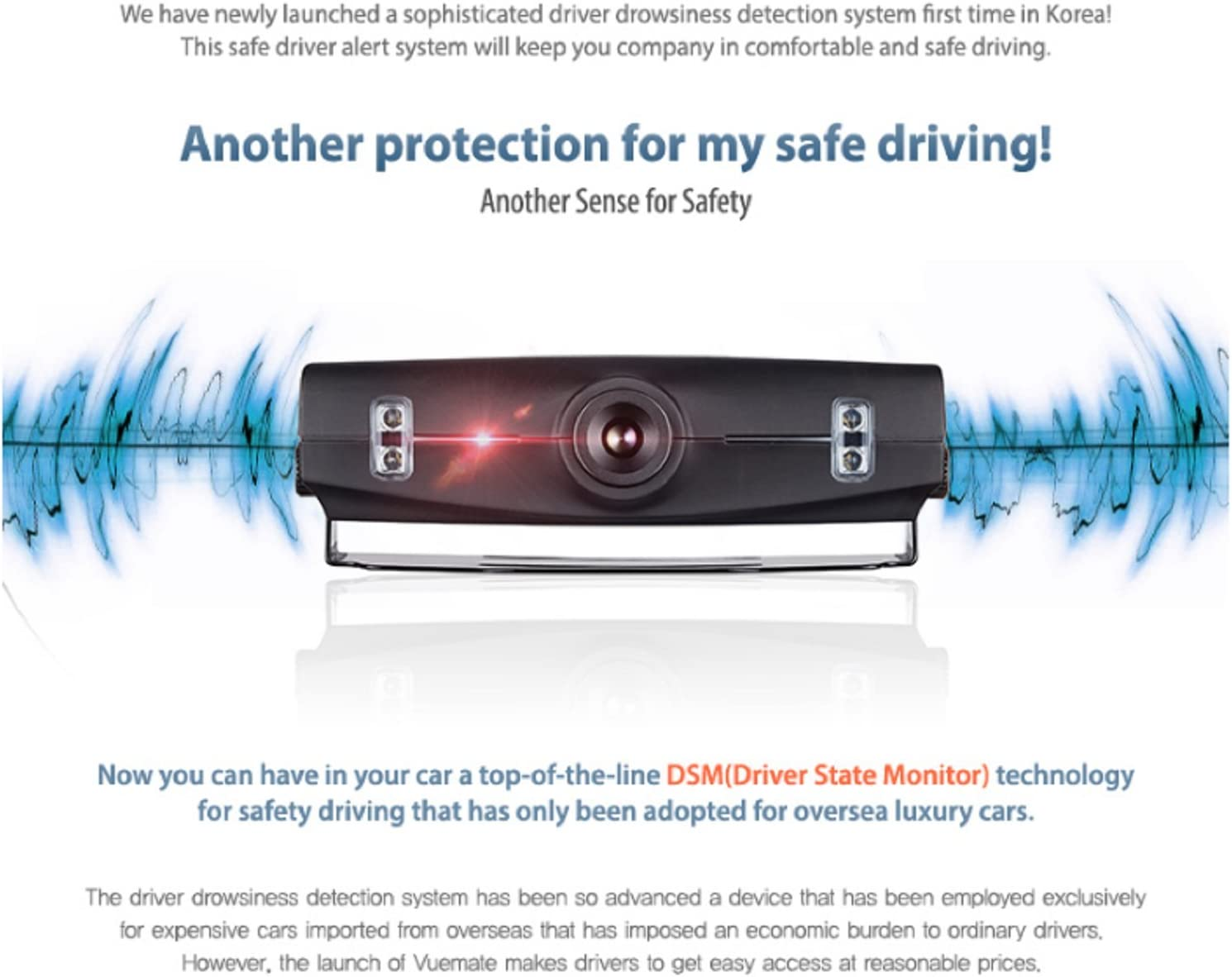 New Vuemate DL330A Driver state Monitor Anti-Sleep Alert Safety Driving Aid