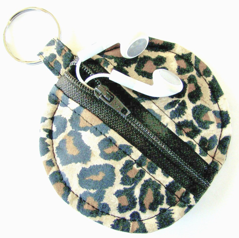 Leopard Earbud Zippered Pouch