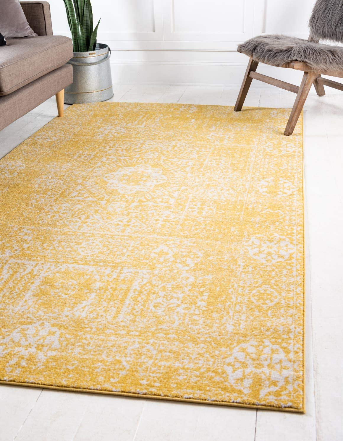 Unique Loom Tradition Collection Classic Southwestern Yellow Area Rug 5 0 x 8 0