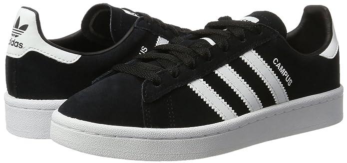 Amazon.com | adidas Originals Campus Black Suede 4 M US Big Kid | Sneakers
