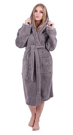 b6705a438f4 Turkuoise Women s Turkish Cotton Hooded Robe