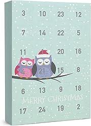SIX Damenschmuck Adventskalender: Eulen im Schnee – 24 Überraschungen in Form schöner Schmuckstücke wie Ringe, Ohrringe, Ketten und Armbände