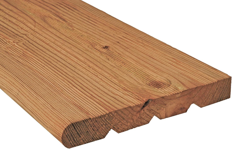 New 8-Step Pressure-Treated Cedar-Tone Pine Stair Stringer