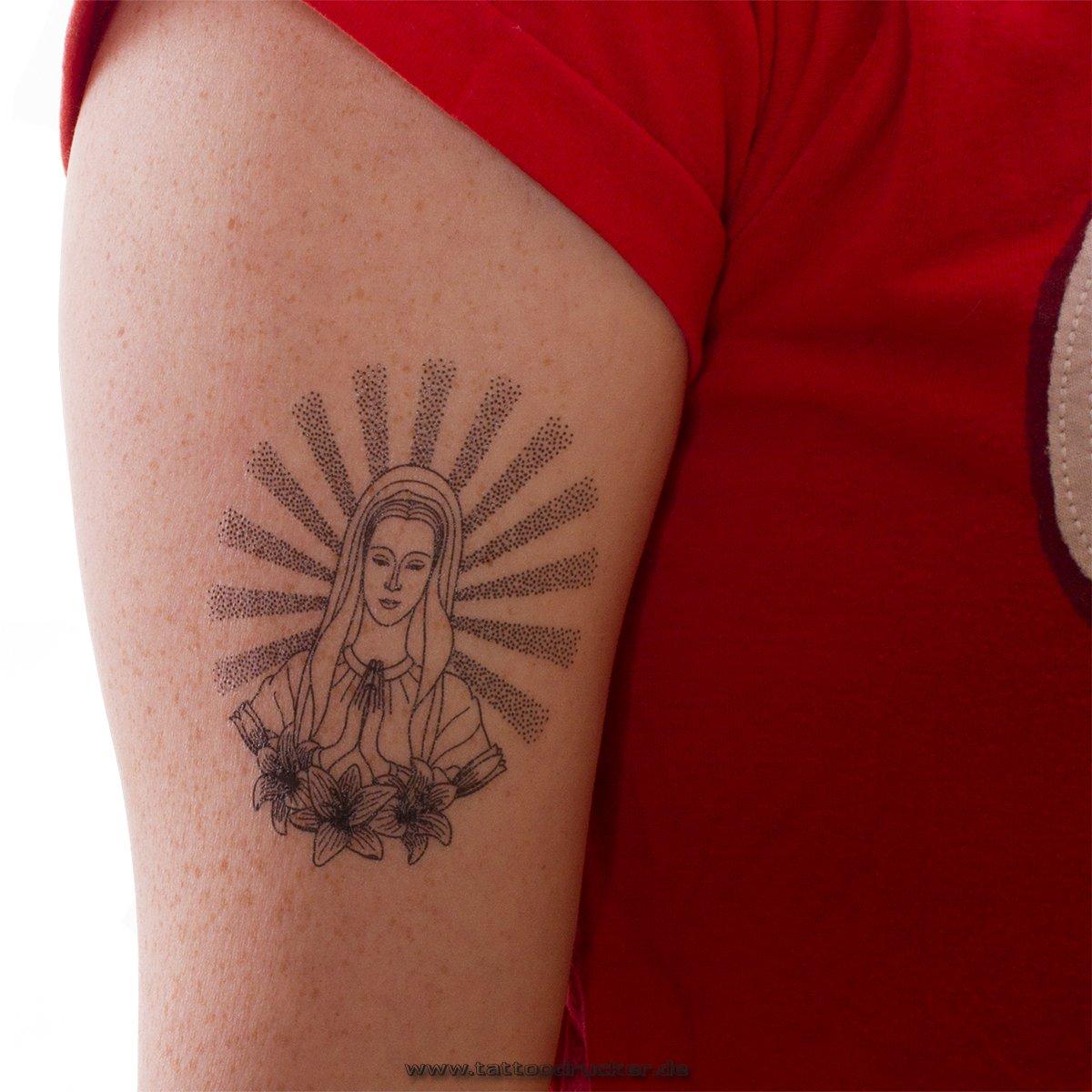Amazon.com: 2 x praying virgin Maria as black Tattoo -Virgin Maria ...