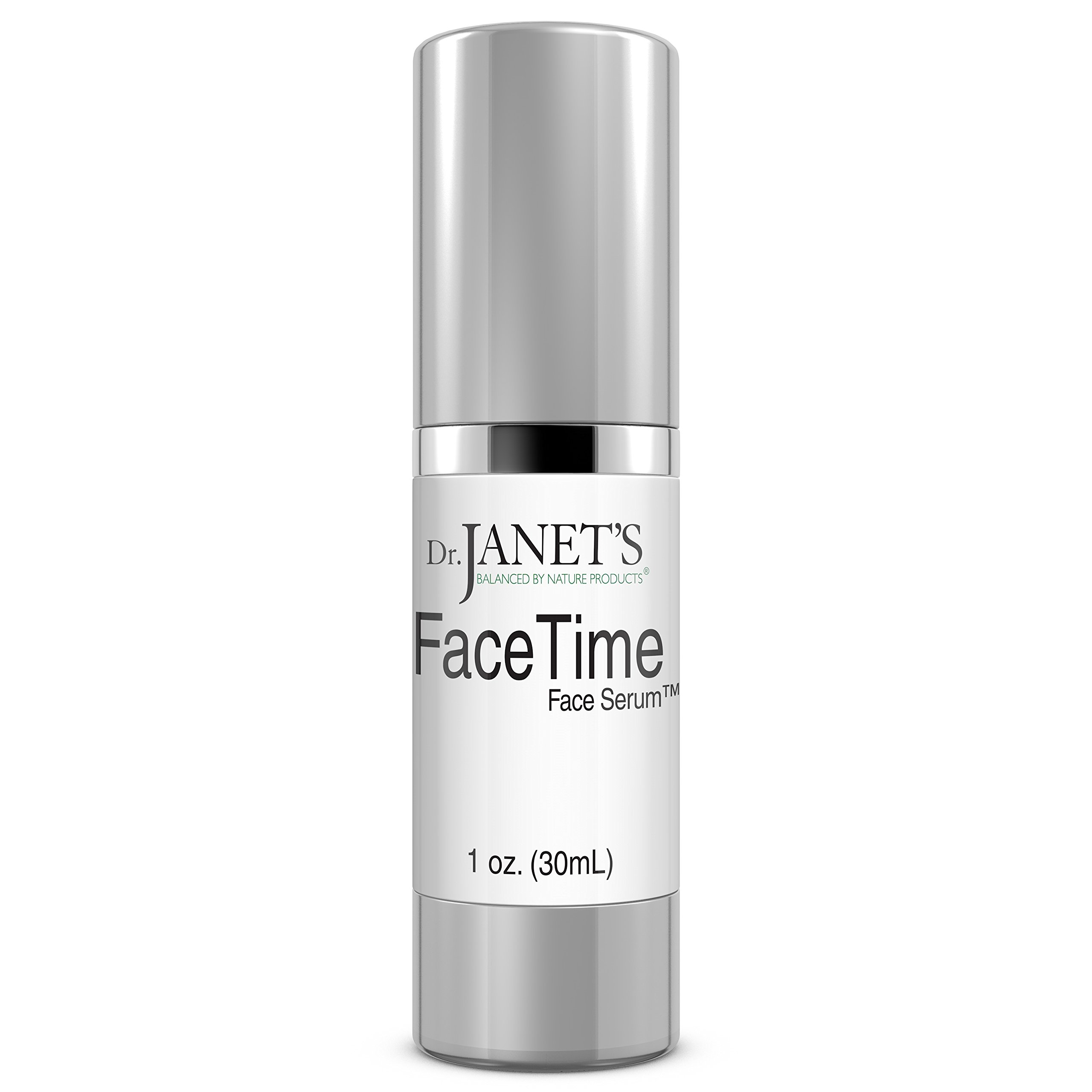 Vitamin C Serum for Face - Hyaluronic Acid for Face Eyes & Neck - Best Natural Anti Aging Serum by Dr. Janet's Balanced By Nature - 1 oz