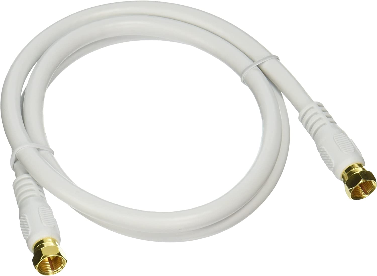 Monoprice 104057 Rg6 Quad Shield Cl2 Coaxial Cable With F Type Connector