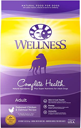 Wellness Complete Health Natural Dry Dog Food, Chicken Oatmeal