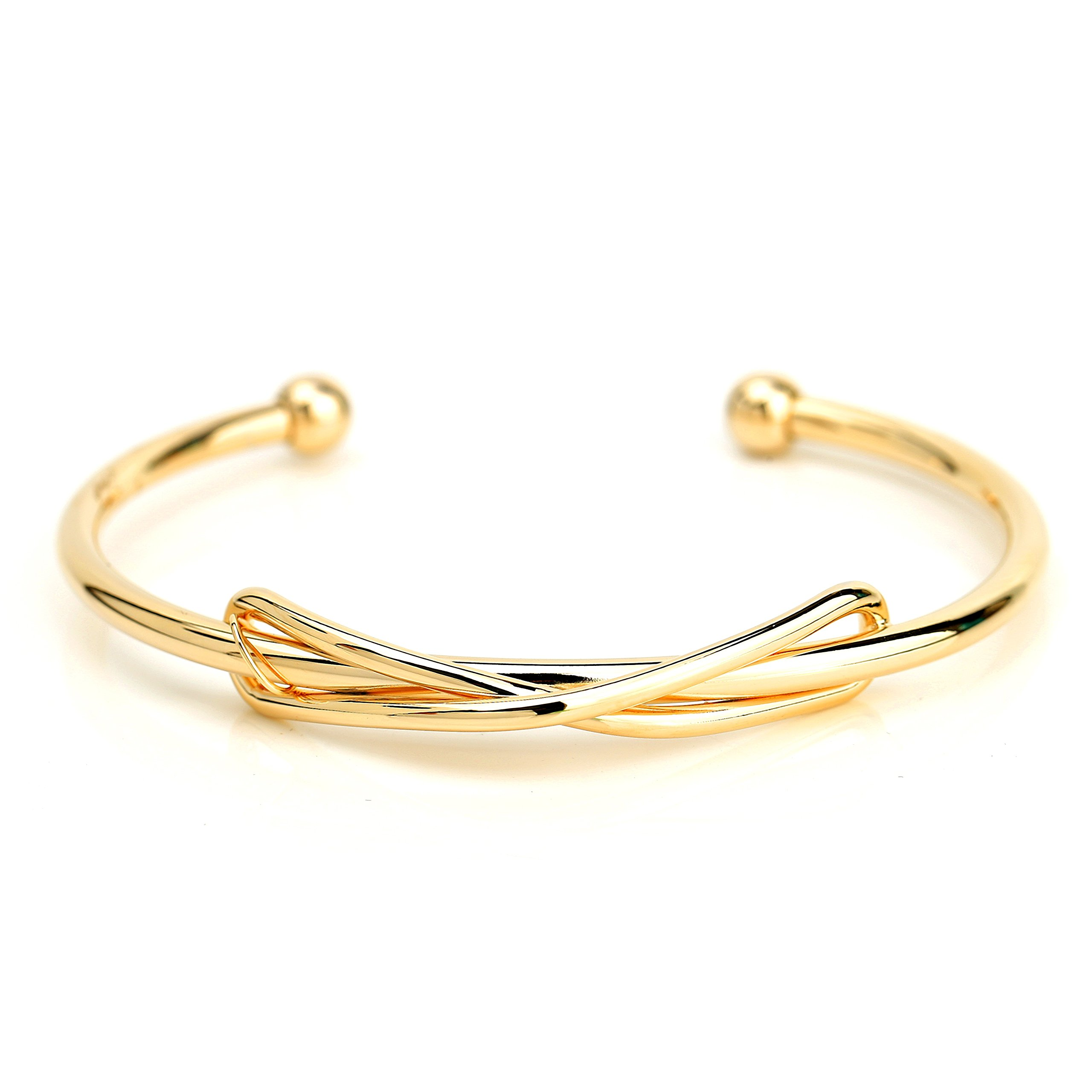Trendy Designer Bangle Bracelet with Contemporary Infinity Design (220041)