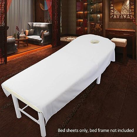 Coperta Termica Per Lettino Massaggio.Uxely Morbido Lenzuolo Ad Angoli Per Lettino Da Massaggi Con Foro In Spugna Per Saloni Di Bellezza E Spa