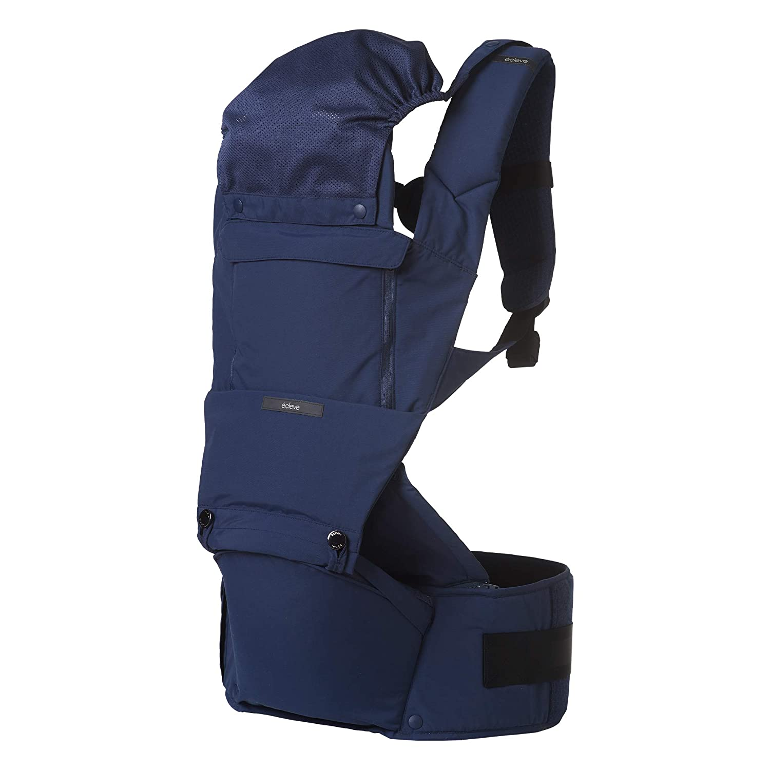 ÉCLEVE Pulse Ultimate Comfort Hip Seat Baby Carrier – Award-Winning 9 Position Front & Back Carry – US Safety Certified Up to 45 lbs (Midnight Blue) 71rvMOgk6HL._SL1500_