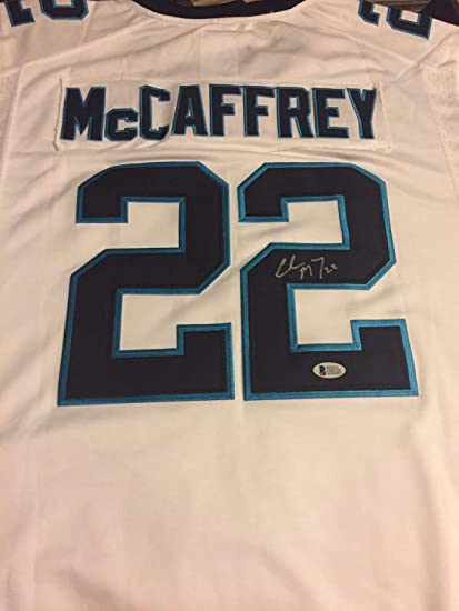 1c28dafe434 Christian Mccaffrey Autographed Signed Carolina Panthers Jersey Signature -  Beckett Authentic