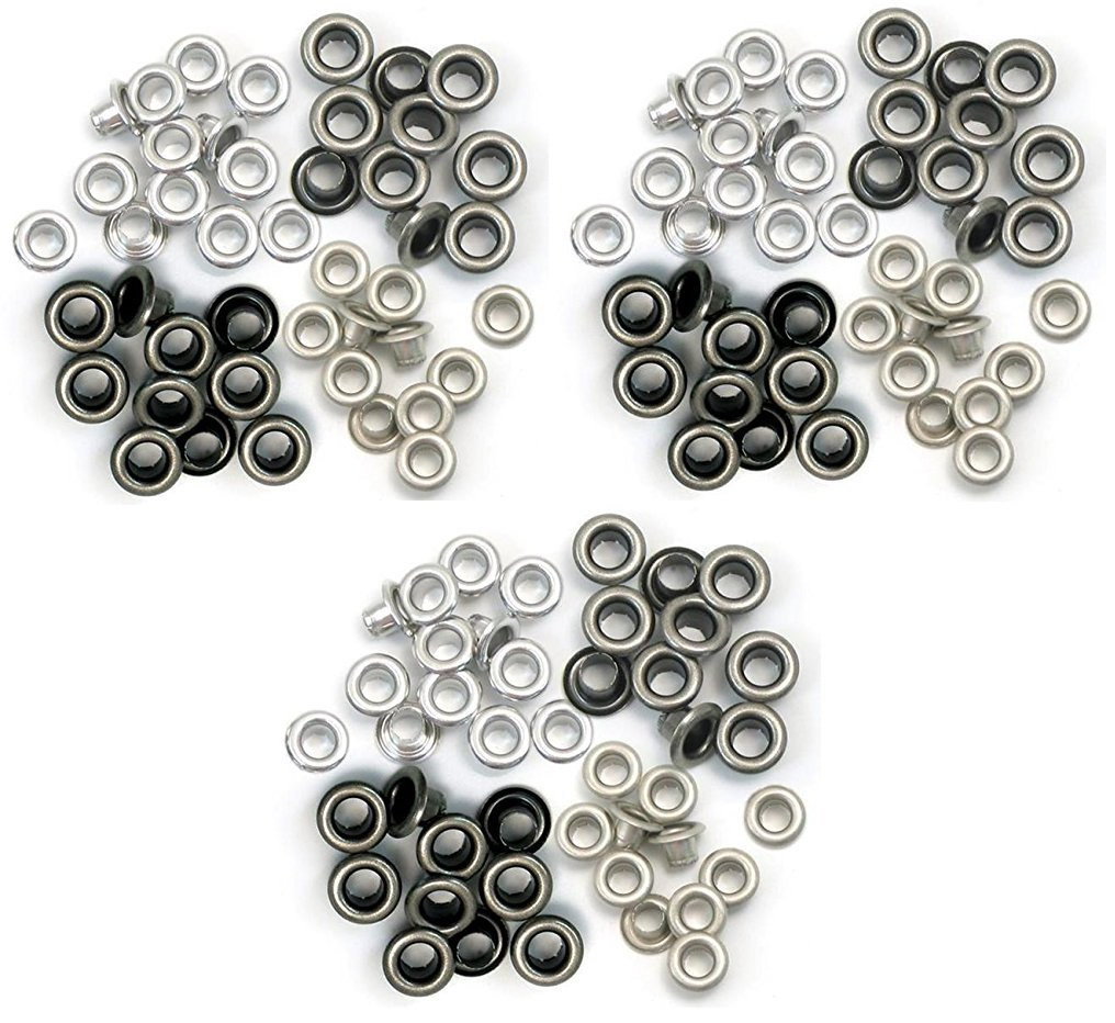 We R Memory Keepers - 60 Standard Cold Metal Eyelets for Scrapbooking - 15 of Each Color WER-ES-41584