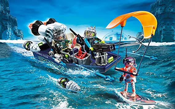 Amazon.com: PM Playmobil Team Shark Harpoon Craft: Toys & Games